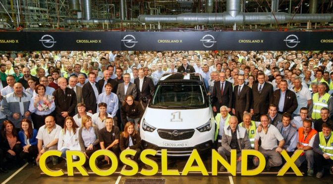 Ξεκίνησε η παραγωγή του Opel Crossland X